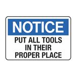 Put All Tools in Their Proper Place Decal
