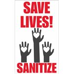 Save Lives Sanitize Decal