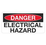 Danger Electrical Hazard - 1.5 in. x 3 in.