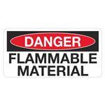 Danger Flammable Material - 1.5 in. x 3 in.