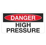 Danger High Pressure - 1.5 in. x 3 in.