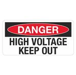 Danger High Voltage Keep Out - 1.5 in. x 3in.
