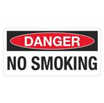 Danger No Smoking - 1.5 in. x 3 in.